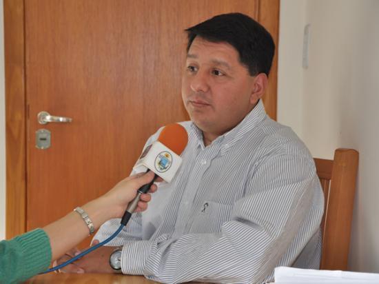 Dr. Walter Abregú, Director General de Salud del municipio .
