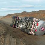 Volcó camión que traía combustible a Río Grande