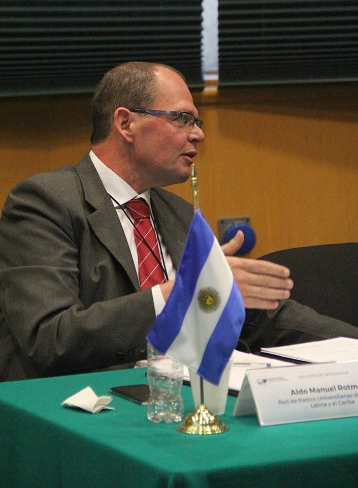 Aldo Rotman, presidente de ARUNA (Asociación de Radios Universitarias Argentinas)  y de RRULAC (Red de Radios Universitarias de Latinoamérica y el Caribe).