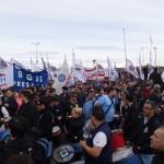 Masiva manifestación de la UOM Río Grande