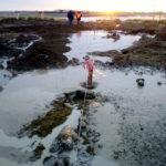 Comenzaron los trabajos para el cruce del gasoducto por debajo del río