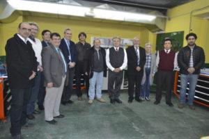 El ingeniero Eduardo Lapiduz, gerente de Afarte y del vicepresidente de la empresa israelita Intelitek, Ing. Moshe Ben-Porath visitaron las instalaciones de la UTN-FRRG. Junto a autoridades universitarias, recorrieron las instalaciones educativas.