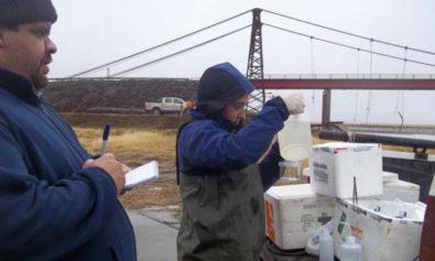 Desde el año 2010 se efectúa el muestreo de los principales cursos de agua que atraviesan la ciudad de Ushuaia y son fuente de agua potable.
