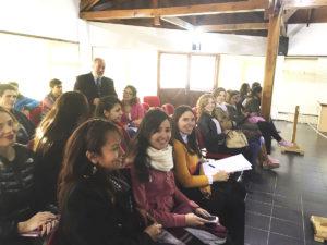 Alumnos de la carrera de abogacía de la UCES presenciaron una audiencia pública.