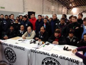 La UOM Seccional Río Grande anunció, en conferencia de prensa, la profundización de las medidas de fuerza.