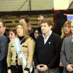 Bertone encabezó el acto central por el Día de la Bandera