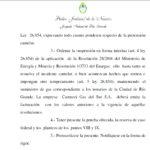 Río Grande con tarifazo suspendido