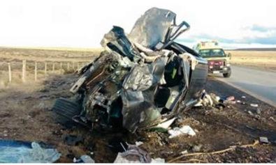 Impactante accidente de familia riograndense sobre la Ruta chilena Nº9 (Imagen gentileza Radio Polar)