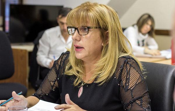 La legisladora del FPV Myriam Martínez cargó contra un ex aliado del kirchnerismo como Oscar Martínez y criticó los llamados contratos basura, que durante la campaña electoral había defendido la entonces senadora Rosana Bertone.