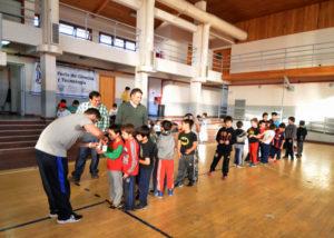 El Ministro de Educación, Diego Romero, visitó las colonias de vacaciones de invierno.