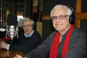 El fundador de Roch, Ricardo Chacra y el gerente de la petrolera en Tierra del Fuego, Fernando Saudino.