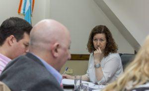 La legisladora del MPF Mónica Urquiza sintetizó el paso del funcionario por la Legislatura, siendo una de las parlamentarias que había planteado la falta de información básica, entre ellas la ejecución presupuestaria de lo que va del ejercicio.