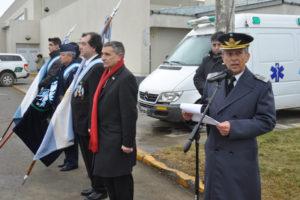 """El Comodoro Marcelo García dijo que """"la Fuerza Aérea Argentina es parte indivisible de la sociedad porque se nutre de hombres y mujeres de la misma en un marco de libertad e igualdad""""."""