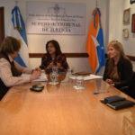 La Presidente del Superior Tribunal de Justicia se reunió con autoridades de Derechos Humanos del Municipio