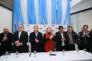 """""""Cuando las fuerzas políticas se unen para lograr a favor de la gente un objetivo concreto, se puede"""", remarcó la gobernadora Bertone."""
