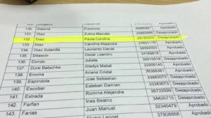 La hermana del ministro de Gobierno y Justicia fue designada como empleada del Poder Judicial, a pesar que desaprobó el examen.