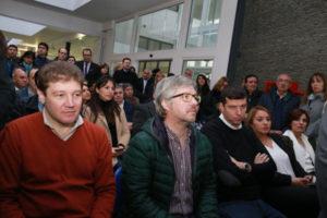Funcionarios provinciales y municipales estuvieron presentes en los anuncios del ministro Frigerio.
