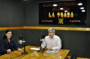 La Diputada del Frente para la Victoria, Ana Carol, visitó los estudios de Radio Universidad (93.5 MHZ).