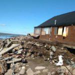 Una casa se desplomó como consecuencia de las mareas extraordinarias