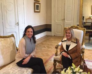 La senadora Miriam Boyadjián mantuvo un segundo encuentro, esta vez en Casa de Gobierno, con la ministra Carolina Stanley.