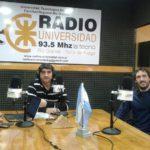 Federico Linetti y Richard Gómez visitaron los estudios de Radio Universidad