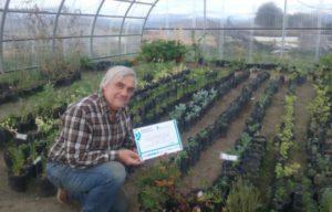 El Ing. Vater en el Invernadero del Campo Experimental del CADIC,distinguido por el Ministerio de Ciencia y Tecnología de la Provincia de Tierra del Fuego como Innovador Tecnológico 2016.