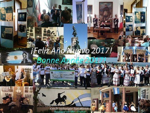 El Círculo Histórico San Martín de Boulogne sur Mer incluyó una foto de alumnos fueguinos.