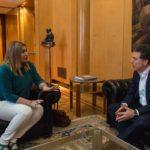 La Gobernadora se reunió con el nuevo Ministro de Hacienda de Nación