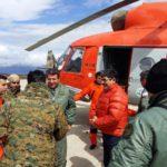 Exitoso cruce del helicóptero a la Antártida Argentina