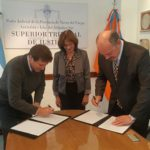 Melella firmó un convenio con el Superior Tribunal de Justicia