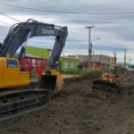 Comenzó la primera etapa de pavimentación en el parque industrial de Río Grande