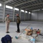 Melella visitó la obra del gimnasio municipal que se construye en el barrio 'Malvinas Argentinas'