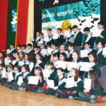 Alumnos del 4to. Grado de la EADEB, prometieron la Bandera