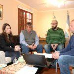 Representantes de la CONAE mantuvieron un encuentro con Queno en Tolhuin