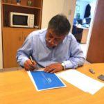 Queno firmó convenio de pago con Nación