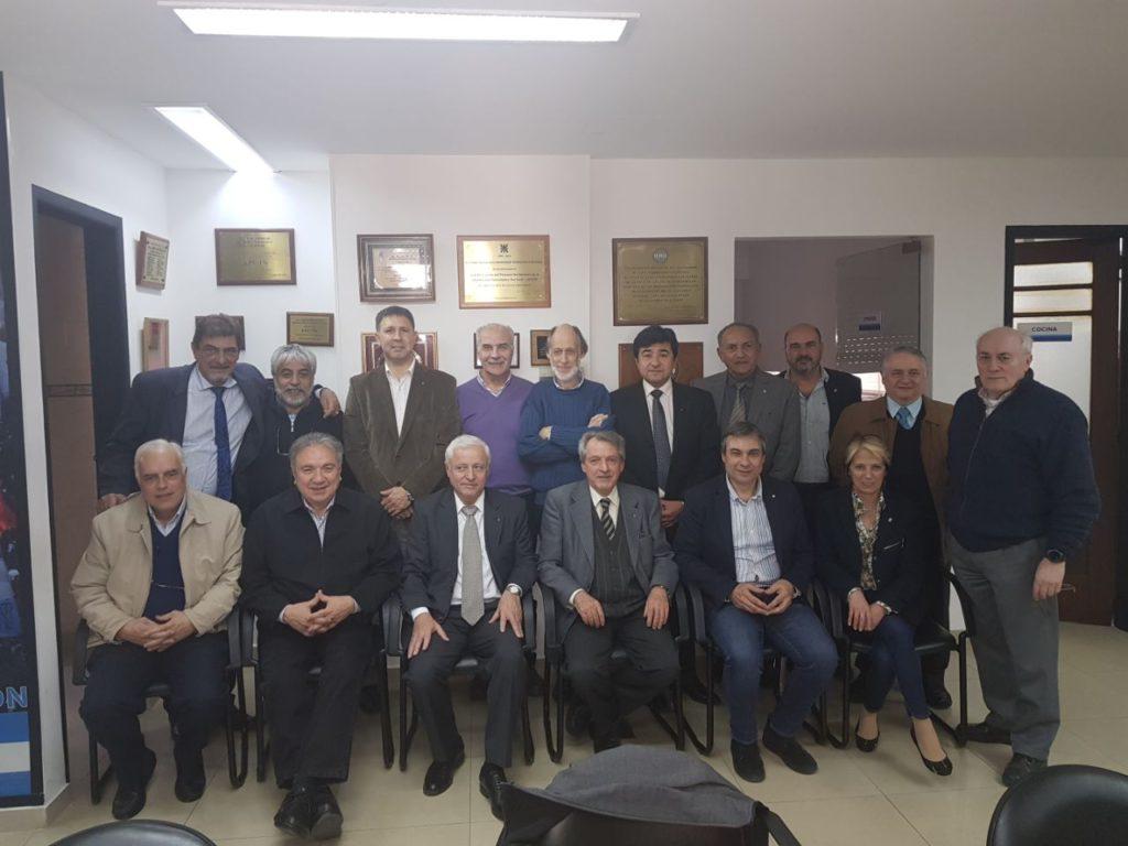 Reunión de decanos y agrupaciones para elegir los candidatos a Rector y Vicerrector en Buenos Aires en la sede del rectorado.