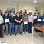 Electricistas capacitados en la FRTDF-UTN recibieron certificados de evaluación y capacitación