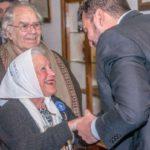 Vuoto recibió a Pérez Esquivel, Nora Cortiñas y Ernesto Alonso