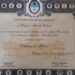 El Senado homenajeó al profesor Marcelo Cobian