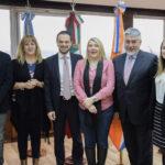 Bertone recibió a representantes de la Embajada italiana