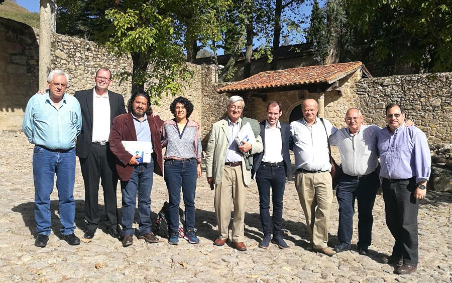 La delegación completa en España.