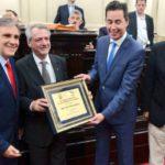 La Legislatura de Córdoba otorgó una Placa Reconocimiento al Rector Electo Ing. Héctor Aiassa