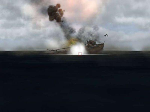 Según el especialista en temas militares Juan Carlos Cicalesi, aparentemente fue el Destructor 'La Argentina' (D-11) el buque lanzador y consecuentemente un misil MM-40 Exocet fue el lanzado contra el histórico buque.