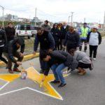 Se repintó la estrella amarilla que recuerda al padre José Zink