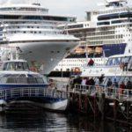 Temporada de cruceros a pleno en el puerto del fin del mundo