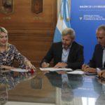 Bertone y Frigerio firmaron convenio de 307 millones para su construcción