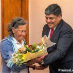 Elisa Sampietro de Forti, maratonista de 83 años visitó la Legislatura