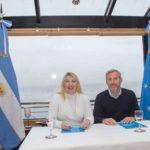 La Gobernadora y el ministro Frigerio firmaron convenio para Puerto Almanza