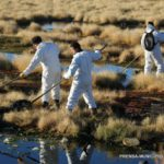 Continúa el saneamiento de la costa del río Grande