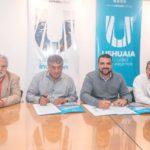 Los intendentes Vuoto y Queno firmaron un convenio de colaboración mutua